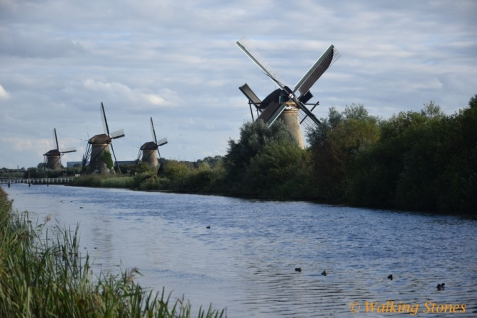 Windmills in Kinderdijk, Holland